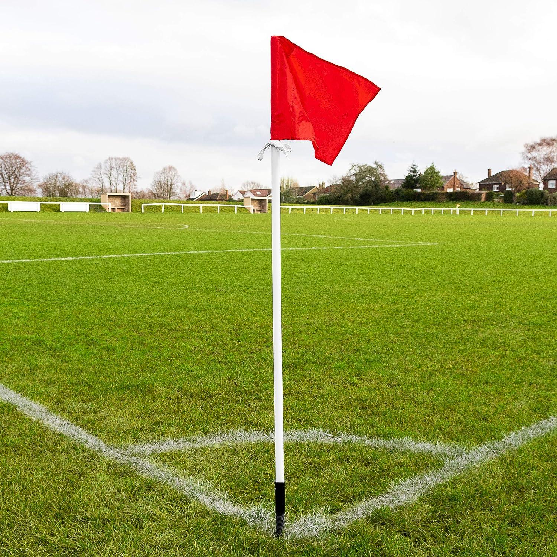 FORZA Banderines de Fútbol con Picas y Resorte | Banderas Córner de Fútbol | Banderas Esquina