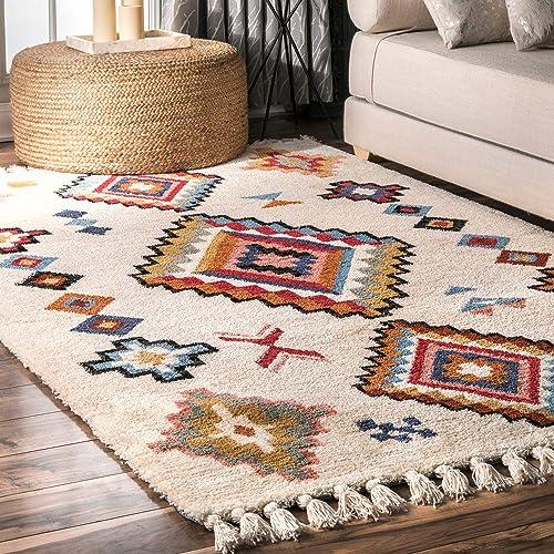 nuLOOM Anna Moroccan Tassel Area Rug, 5 x 8 , Multi