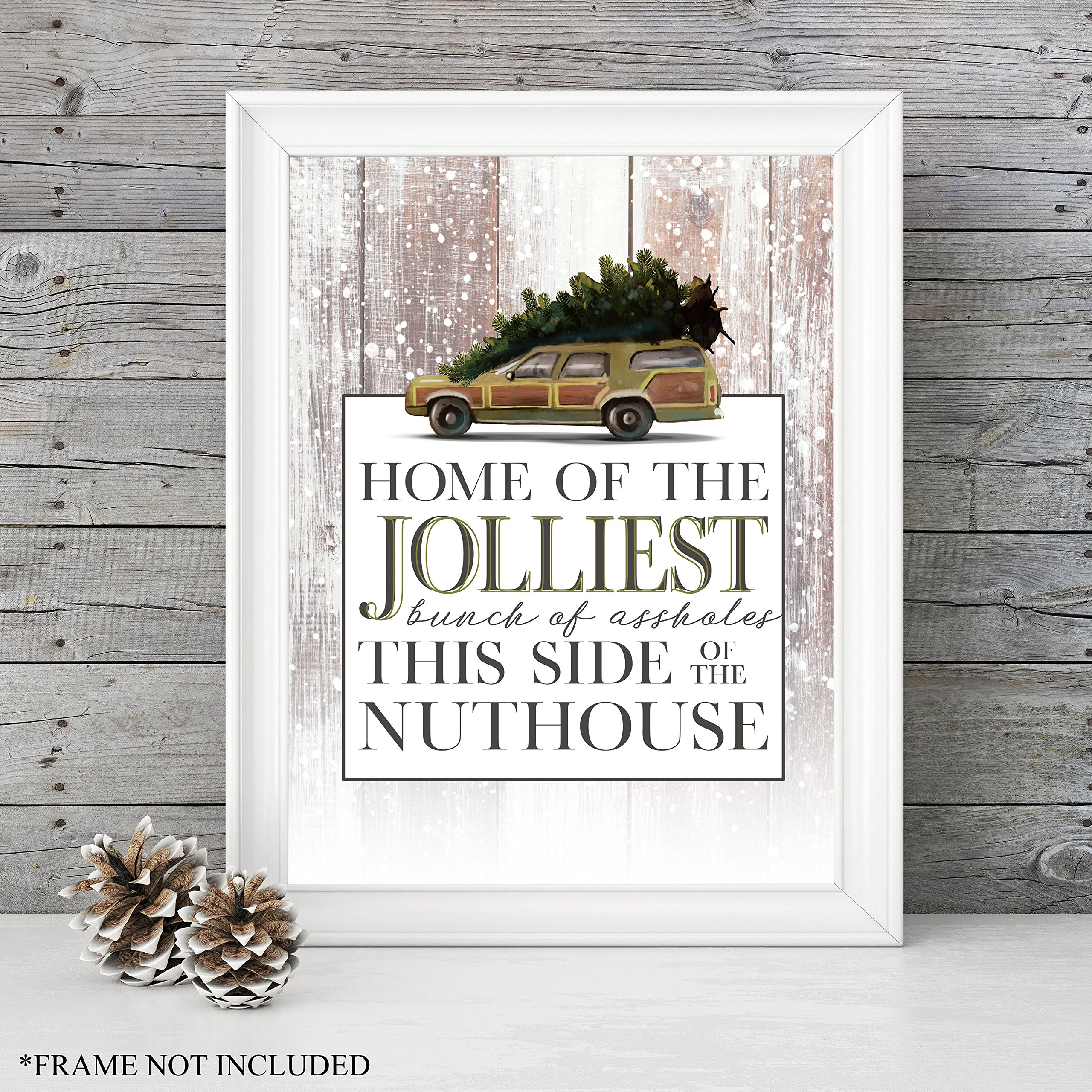 holiday decor national lampoons christmas vacation home of the jolliest bunch unframed 1114 art print great holiday gift