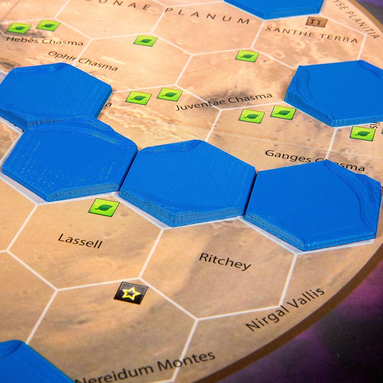 The Broken Token Azulejos hexagonales para terraforming Mars (9): Amazon.es: Juguetes y juegos