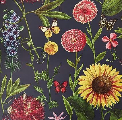 Amazon Com Arthouse Summer Garden Wallpaper Charcoal Home Kitchen