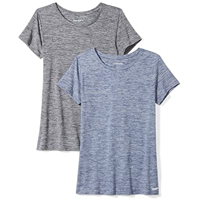 Essentials Women's 2-Pack Tech Stretch Short-Sleeve Crewneck T-Shirt: Clothing