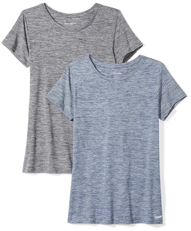 Amazon Essentials Womens 2-Pack Tech Stretch Short-Sleeve Crewneck T-Shirt