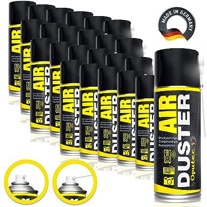 24 x 400ml oputec Air Duster Teclado - Limpiador de aire ...