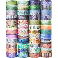 48 Rolls Washi Tape SetDecorative Masking Adhesive Tape for DIY Crafts and Gift WrappingBeautify Bullet Journals Planners by KOVANO