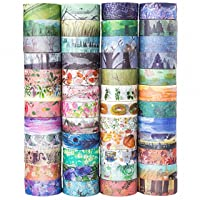 48 Rolls Washi Tape Set,Decorative Masking Adhesive Tape for DIY Crafts and Gift...
