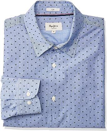 Pepe Jeans Camisa Azul Topos para Hombre: Amazon.es: Ropa y accesorios