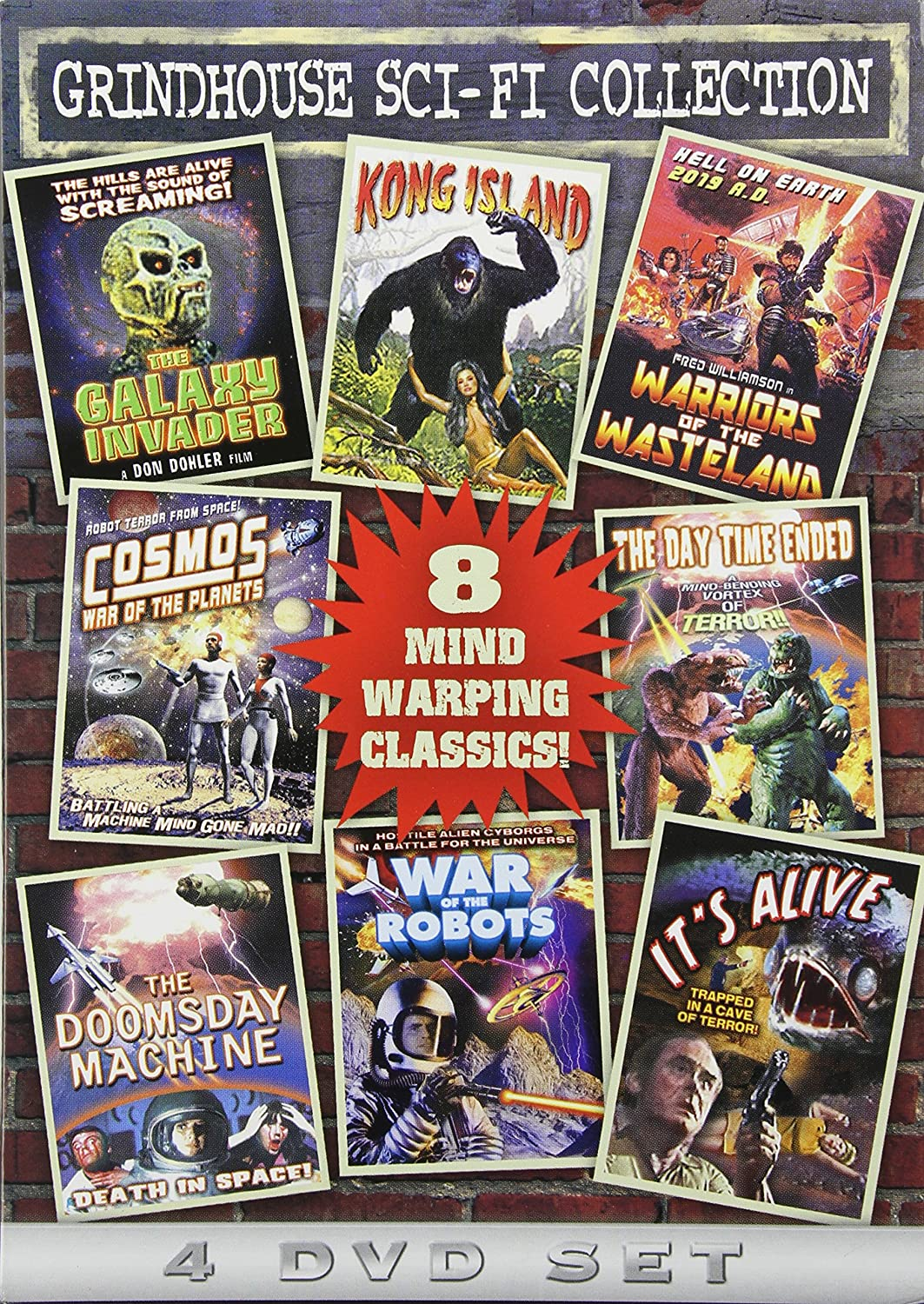 Amazon.com: Grindhouse Sci-Fi Collection (The Galaxy Invader / Kong Island  / Warriors of the Wasteland / Cosmos: War of the Planets / The Day Time  Ended ...