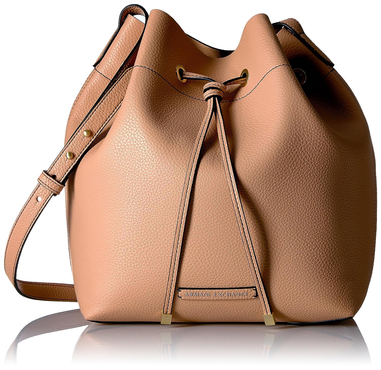 A X Armani Exchange Pebble Pu Bucket Bag