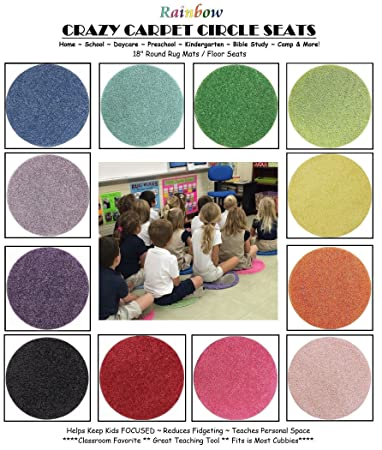 Amazon Com 24 Rainbow Kids Crazy Carpet Circle Seats 18 Round