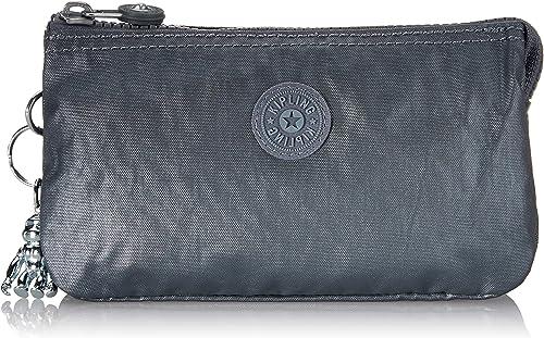 18.5x11x1.5 cm Kipling Creativity L Portamonete Donna Argento B x H T Steel Grey Gifting