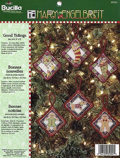 Set of 30 Christmas Bucilla 86672 Counted Cross Stitch Mini Ornament Kit