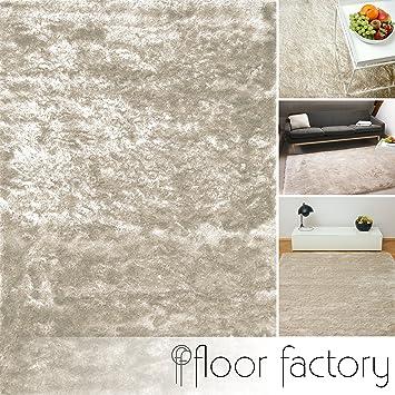 Floor Factory Tapis De Salon Satin Beige Creme 160x230 Cm Tapis