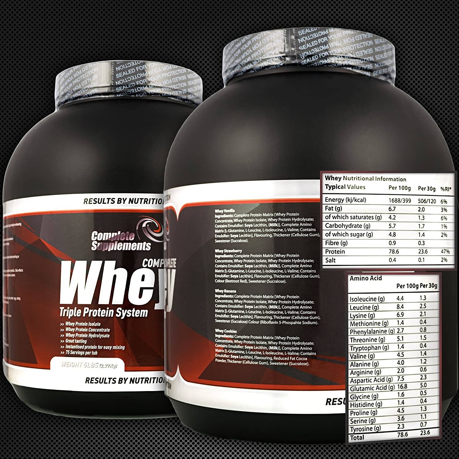 Triple Whey Protein Powder Premium Complete Supplements (Strawberry, 2,27kg): Amazon.es: Salud y cuidado personal