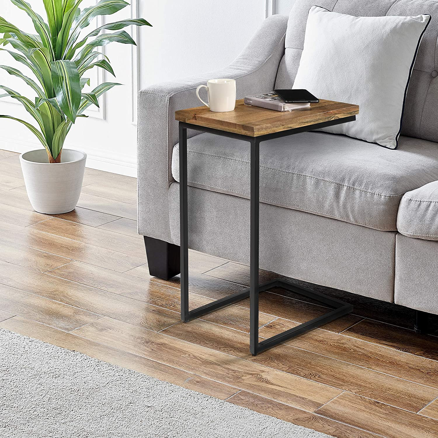 FirsTime & Co. Natural Eli C Side Table, Natural Wood, 18 x 14 x 26.25 inches
