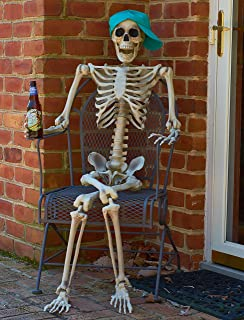 prextex 5 ft tall halloween skeleton full body halloween skeleton for best halloween decoration - Skeleton Halloween Decoration