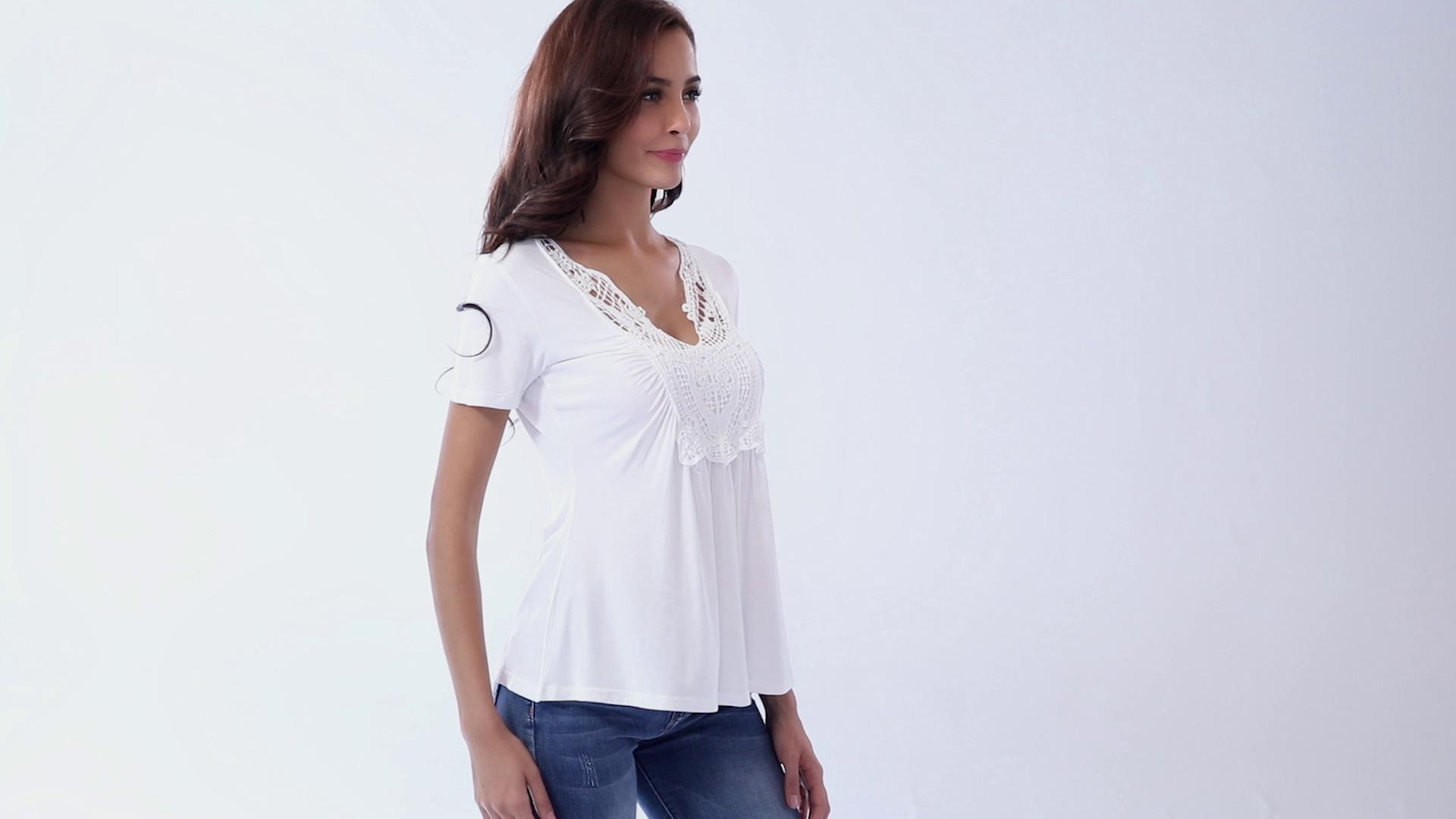 c561bf810de02 MISS MOLY Womens Ruched Front Tops Deep V Neck T Shirt Shot ...
