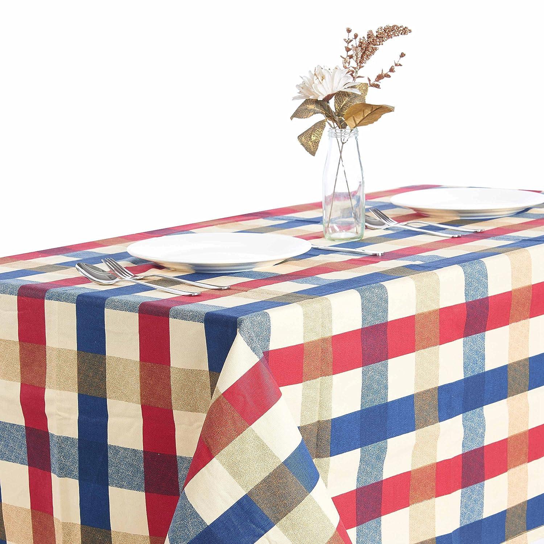 Edimburgo rejilla/manteles/mantel a cuadros de colores rojo y azul cuadros funda para mesa para boda fiesta show cuadro, libre de polvo, ...