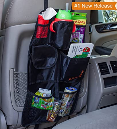 back seat car organizer best backseat auto organizer for kids and baby contains pockets