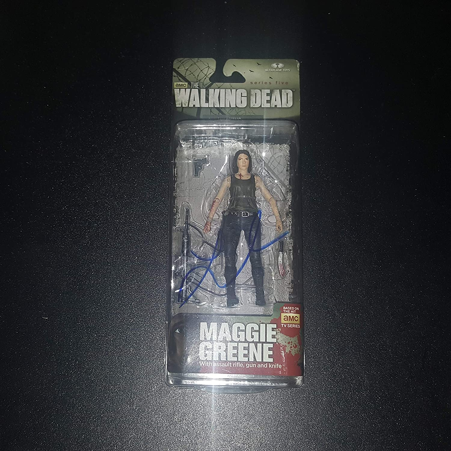 Lauren Cohen - Autographed Signed MAGGIE GREENE McFarlane Toy Figure - The WALKIND DEAD - Zombie - Series 5s
