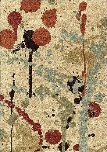 Orian Rugs Majestic Shag Funfetti Paint Splatter Area Rug