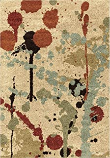"product image for Orian Rugs Majestic Shag Funfetti Paint Splatter Area Rug, 7'10"" x 10'10"", Multicolor"