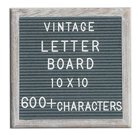 Amazon.: Changeable Letter Board Dark Grey Felt 10x10 Inches