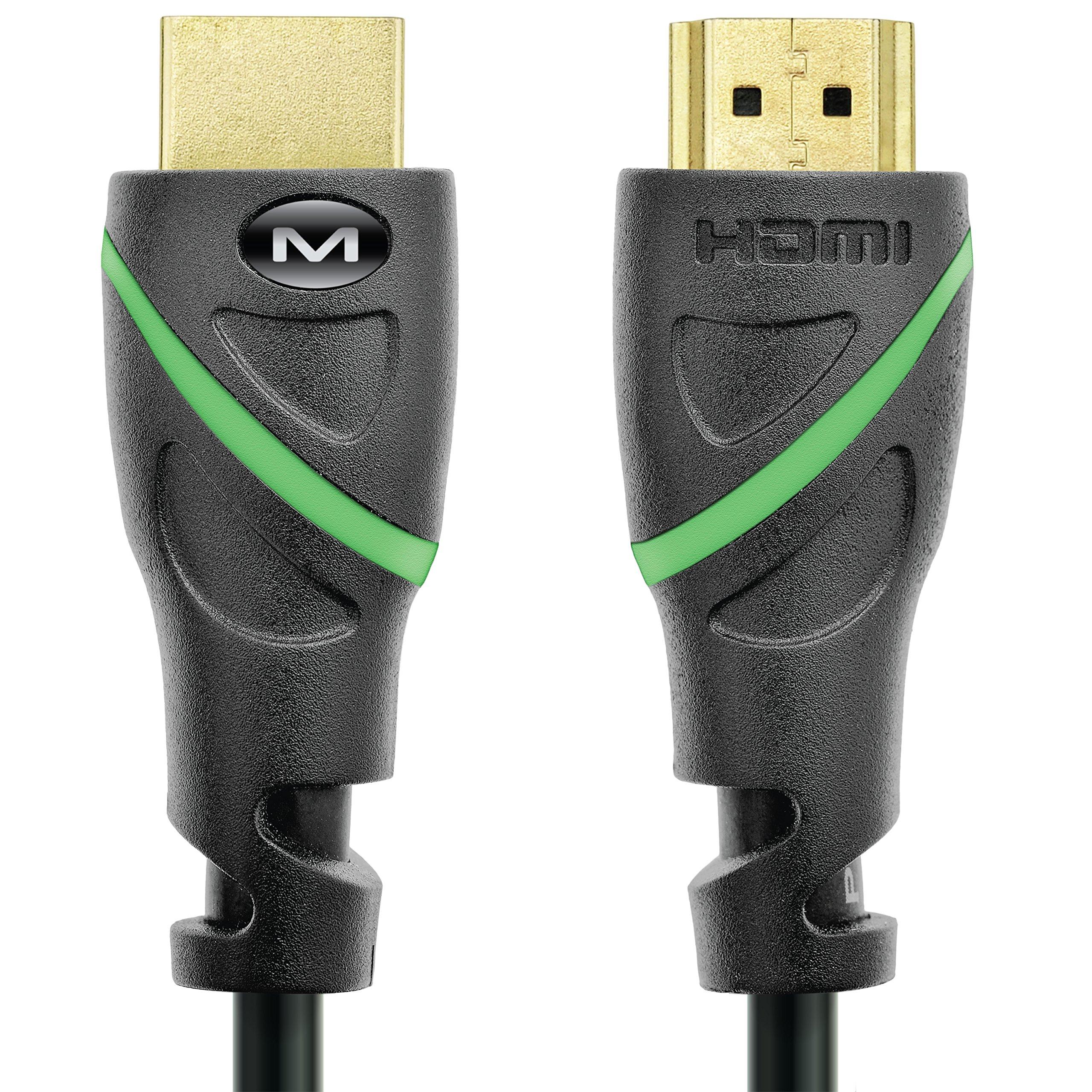El Cable Hdmi De La Serie Mediabridge Flex (1 Pie) Admite 4k @ 50 / 60hz, Alta Velocidad, Probado A Mano, Listo Para Hdm