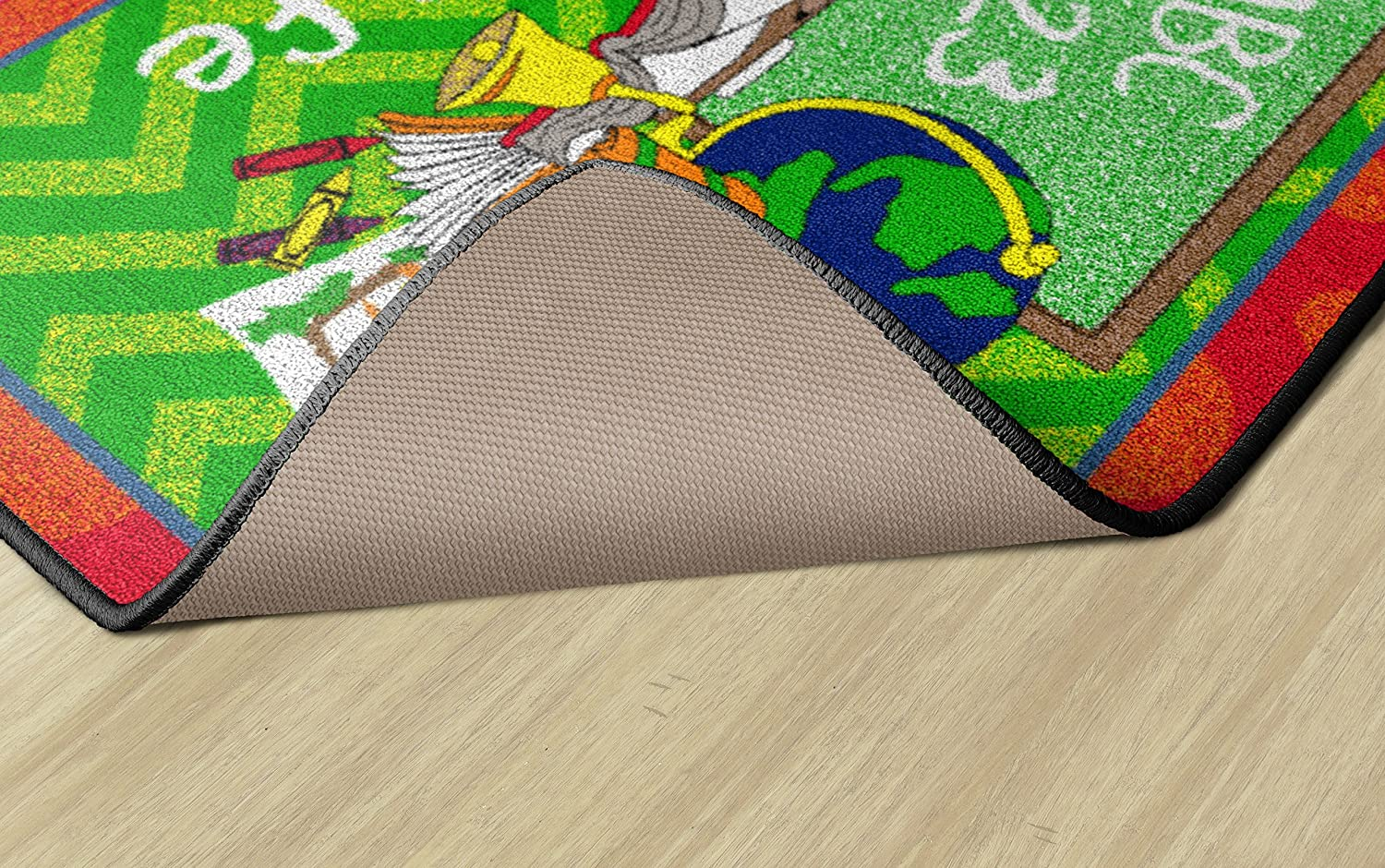 Green and Red Flagship Carpets CE361-08W Class Life Green//Red Flagship Products