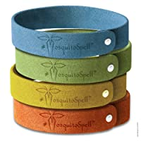Mosquito Repellent Bracelet 12pcs, 100% All Natural Plant-Based Oil, Non-Toxic Travel Insect Repellent, Safe Deet-Free Band, Soft Fiber Material For Kids & Adults, Keeps Insects & Bugs Away