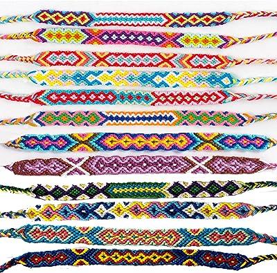 2 X Niños /& Adultos pulseras de la amistad festival Pulseras trenzada de algodón tejido