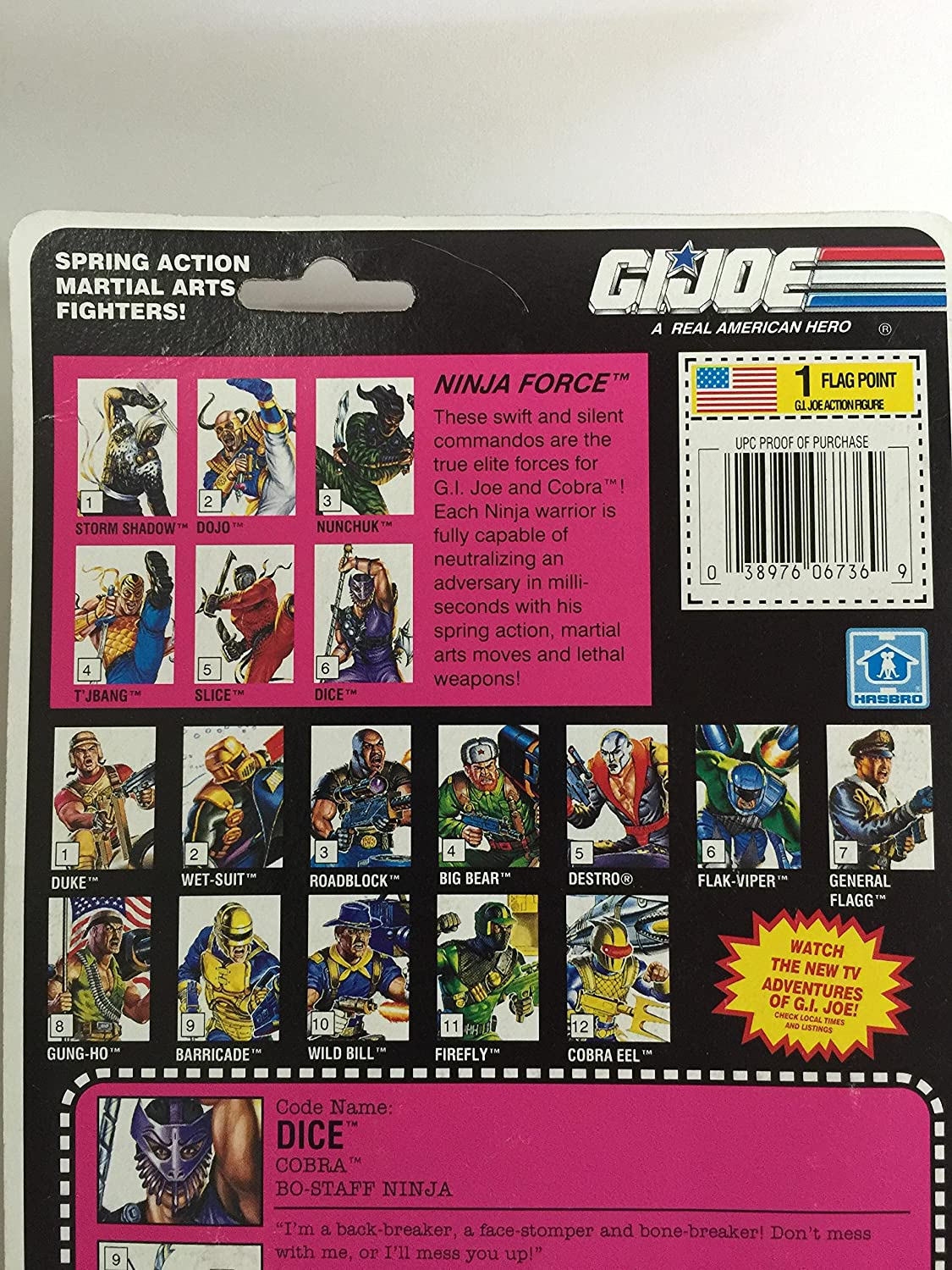 Amazon.com: GI Joe Ninja Fuerza Dados: Toys & Games