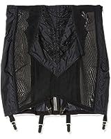Rago Shapewear Women's Plus-Size High Waist Open Bottom Girdle with Zipper