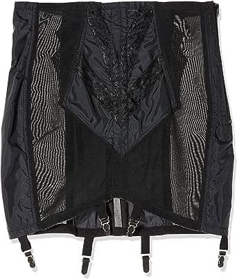 Rago Women's Plus-Size High Waist Open Bottom Girdle with Zipper