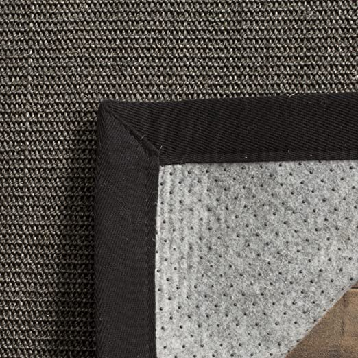 Amazon Safavieh Natural Fiber Collection NF441D Hand Woven Charcoal Sisal Area Rug 4 X 6 Kitchen Dining