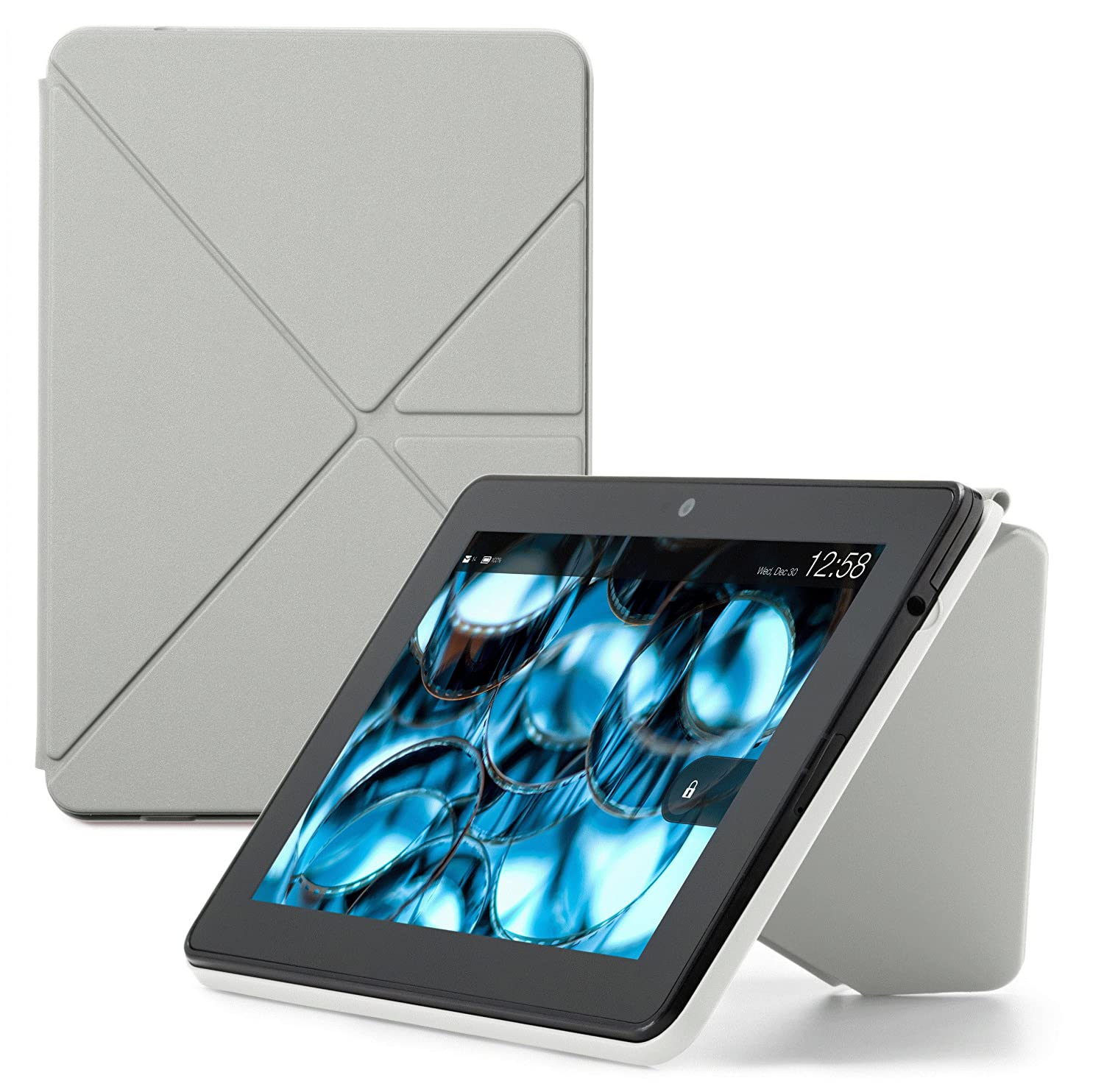 Slate Grey Kindle Fire HDX Standing Polyurethane Origami Case will only fit Kindle Fire HDX 7