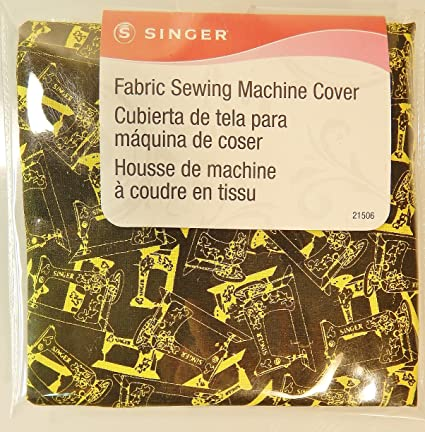 Singer Fabric Sewing Machine Cover Vintage Print