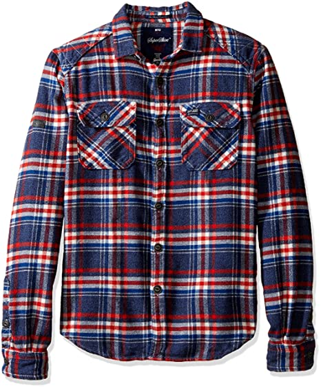 47573194a6 Amazon.com  Superdry Men s Milled Flannel Long Sleeve Shirt ...