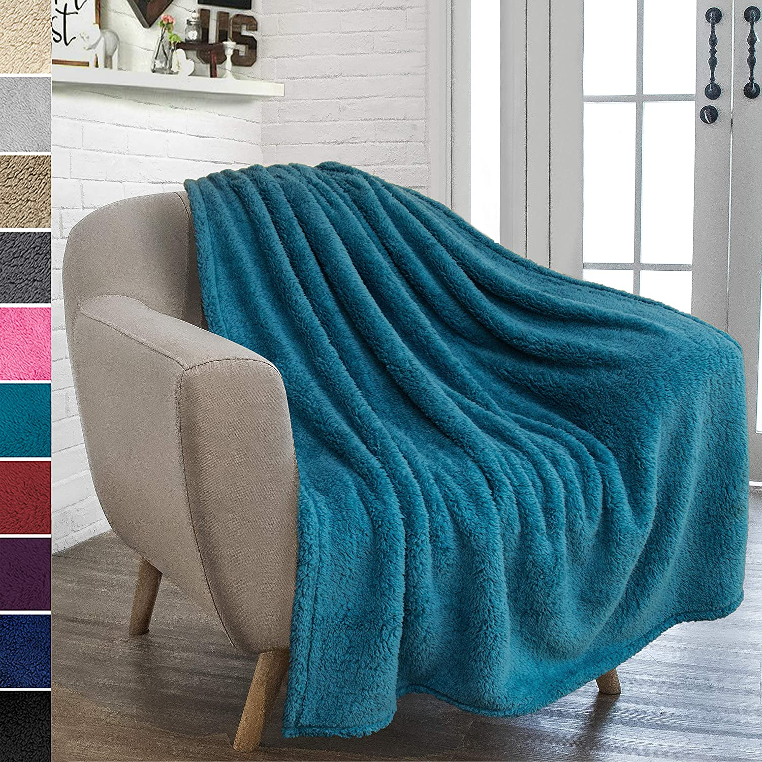 Solid Blue Turquoise Blanket