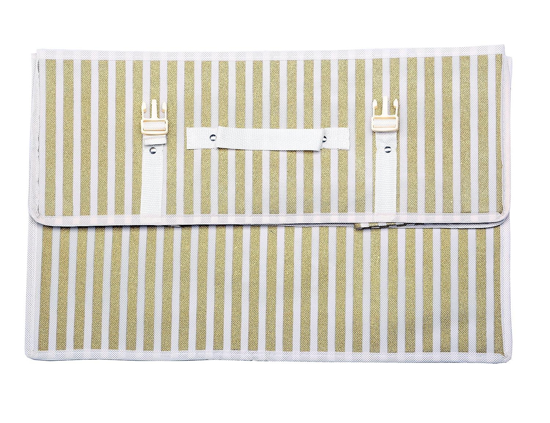21.7 x 13.8 x 7.9 inches Simpson /& Ruxton Bo/îte de rangement de robe de mari/ée respirante rose de Polka pour voyage de taille moyenne avec papier de soie libre rose
