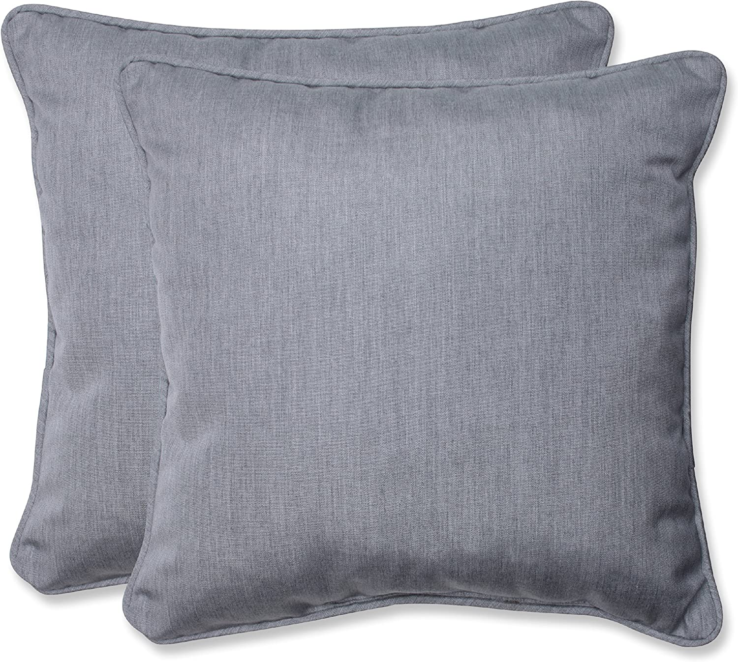 Pillow Perfect Outdoor Indoor Canvas Granite Throw Pillows 18 5 X 18 5 Grey 2 Pack Home Kitchen Amazon Com