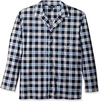 a3207388d0 Nautica Men s Long Sleeve Button Down Cozy Fleece Pajama Top