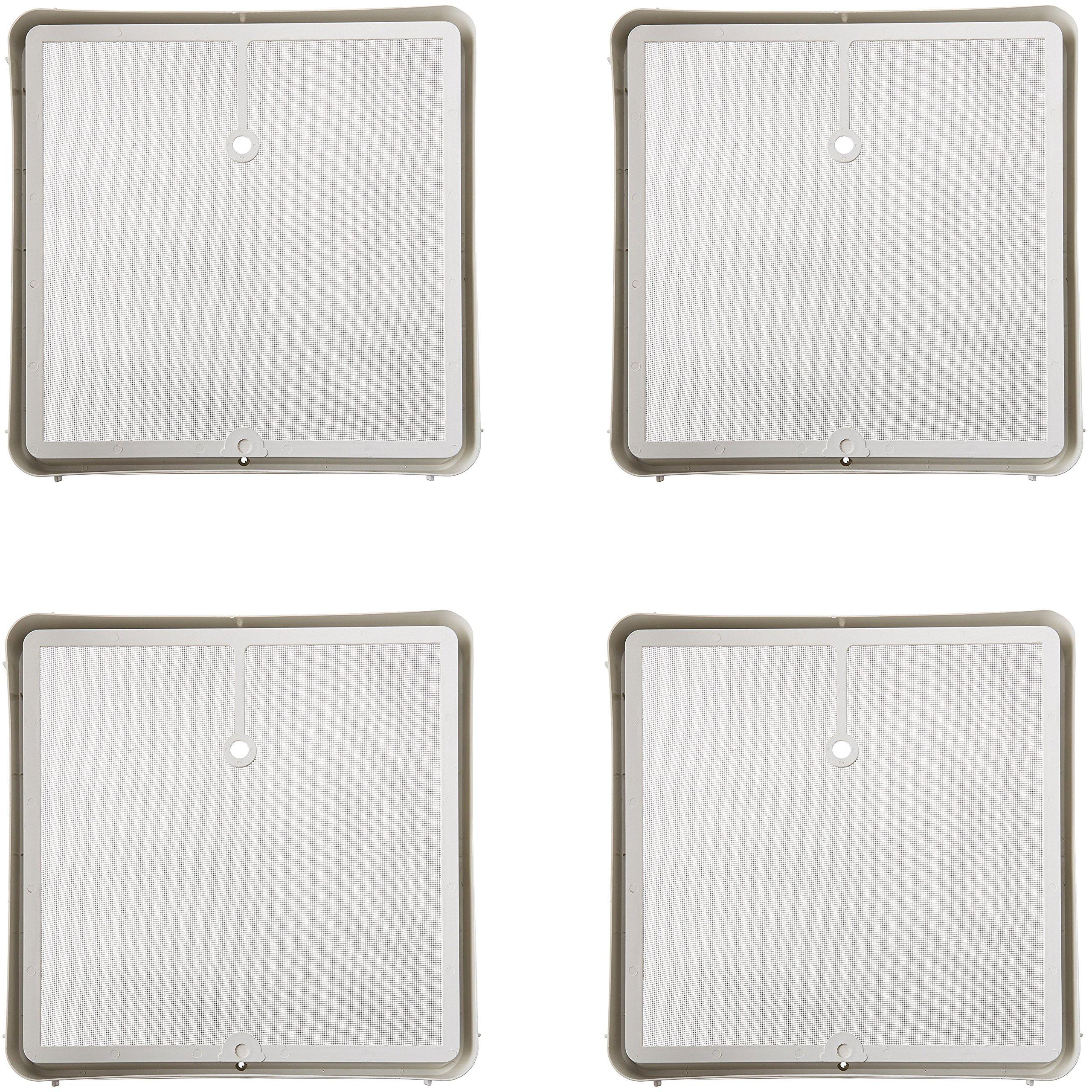 Heng's 90106-C1 Roof Vent Screen Frame, 14'' x 14'' - White (4)