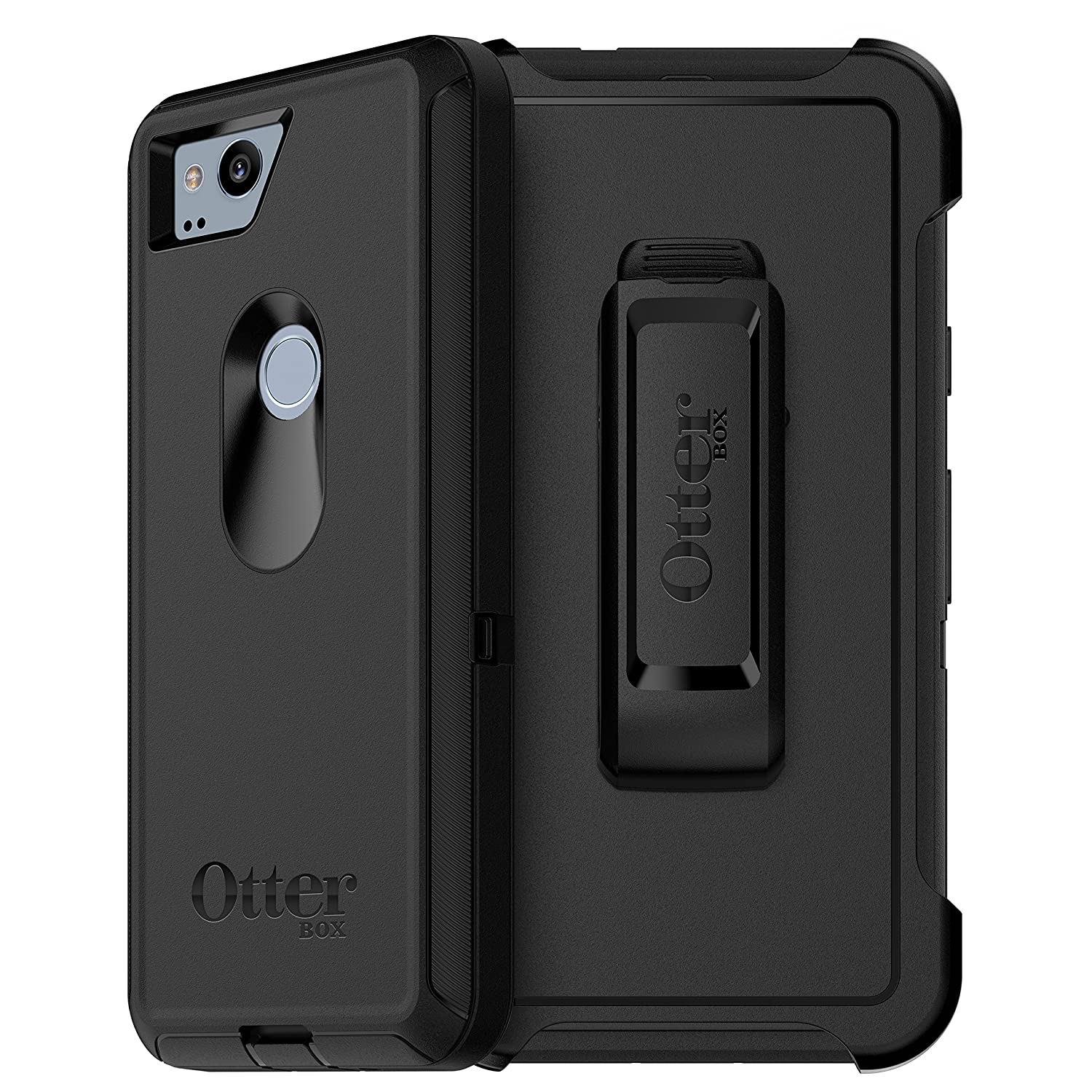 newest a502c e32c6 OtterBox DEFENDER SERIES Case for Google Pixel 2 - Retail Packaging - BLACK