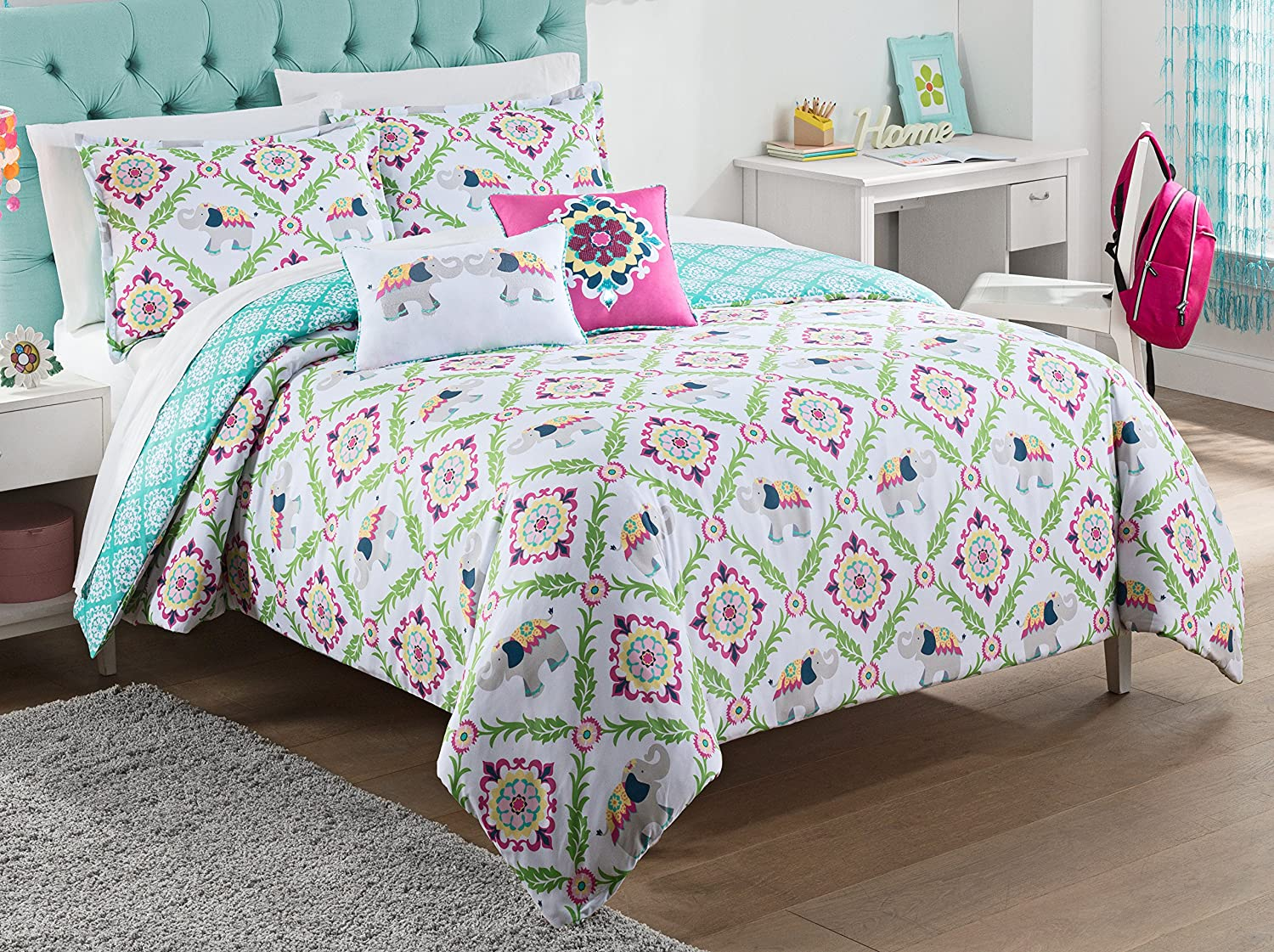 Waverly Kids 16437BEDDTWNMUL Bollywood 86-inch by 68-Inch Reversible Twin Comforter Collection, Multi
