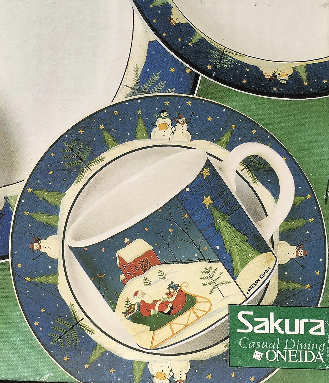 Amazon.com   Warren Kimble Home For The Holidays 20 Piece Dinnerware ...