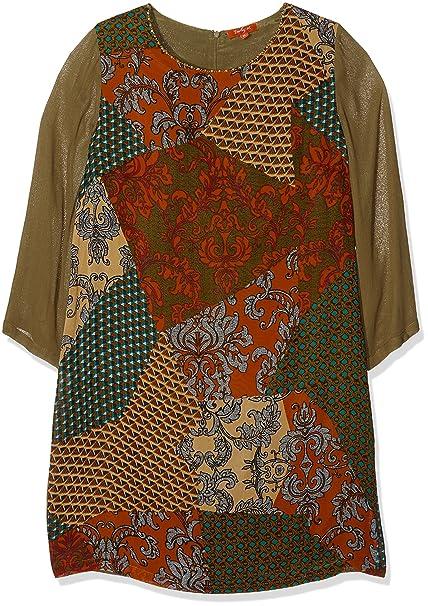 talla paprika Naranja Derhy 44 Mujer Para Vestido Scaramouche xOOnC0qg