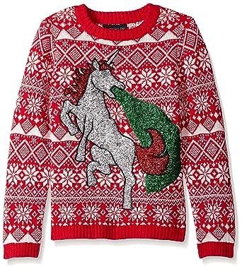 da0274c466 Amazon.com  Blizzard Bay Boys  Glitter Vomit Unicorn Sweater  Clothing