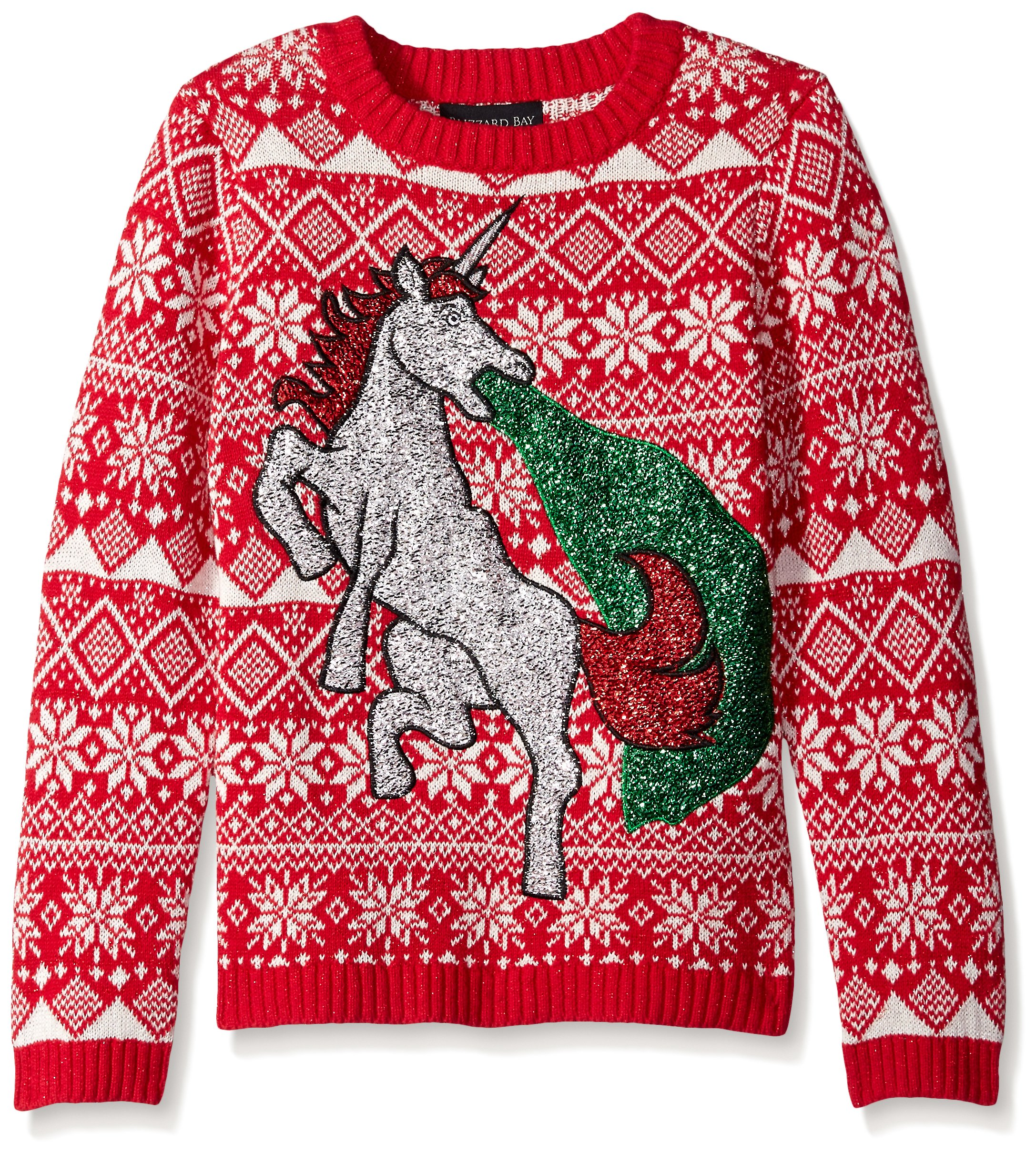 blizzard bay boys glitter vomit unicorn sweater - Ugly Christmas Sweater Amazon