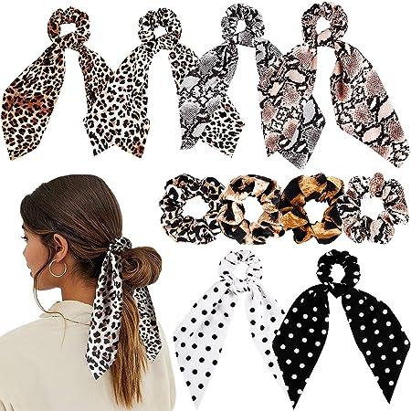 Big Polka Dot Printing Chiffon Elastic Hair Ties Rope Scrunchie Ponytail Holder